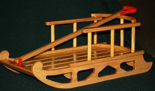 Child's sled - red oak
